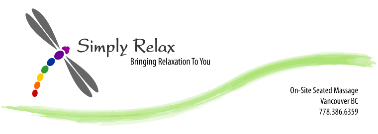 Corporate chair massage flyer - Vancouver Chair Massage Simply Relax Onsite Chair Massage For The